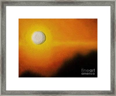 Golden Orb Sunset Framed Print by Tiffany Davis-Rustam
