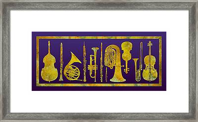 Golden Orchestra Framed Print by Jenny Armitage
