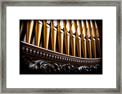 Golden Organ Pipes Framed Print