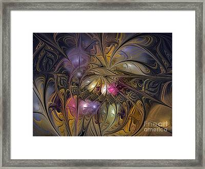 Golden Ornamentations-fractal Design Framed Print by Karin Kuhlmann