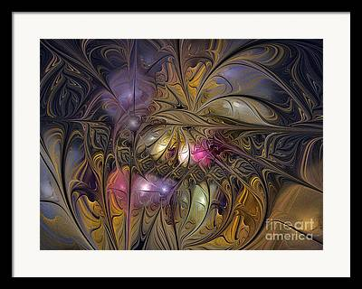 Puple Framed Prints