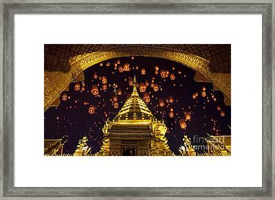 Golden Pagoda And Yeepeng  Framed Print