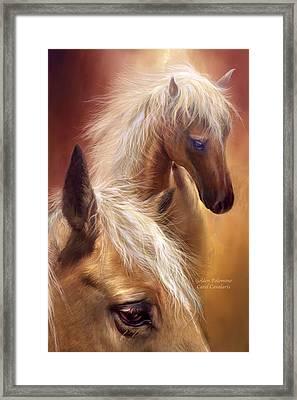 Golden Palomino Framed Print by Carol Cavalaris
