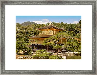 Framed Print featuring the photograph Golden Pavilion by Cassandra Buckley