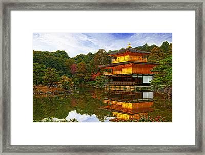 Golden Pavilion Framed Print