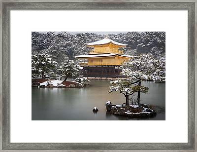 Golden Pavillion Framed Print