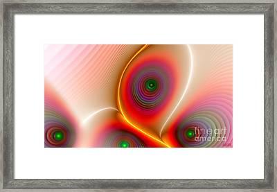 Framed Print featuring the digital art Golden Peacock by Hanza Turgul
