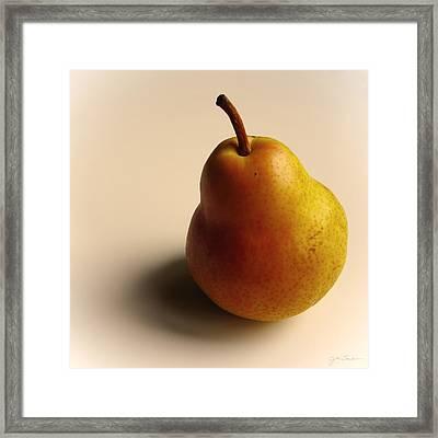 Golden Pear Framed Print by Julie Magers Soulen
