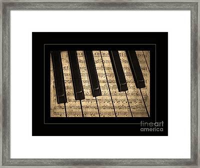 Golden Pianoforte Classic Framed Print by John Stephens
