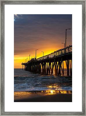 Golden Pier Framed Print