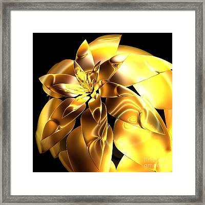 Golden Pineapple By Jammer Framed Print by First Star Art