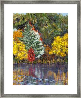 Framed Print featuring the painting Autumn Tapestry by Margaret Bobb