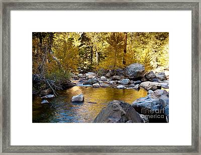 Golden Pool On Roaring River  1-7797 Framed Print