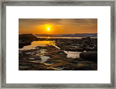 Golden Pools Framed Print by Peter Tellone