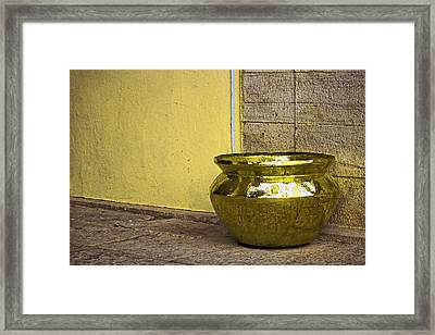 Golden Pot Framed Print