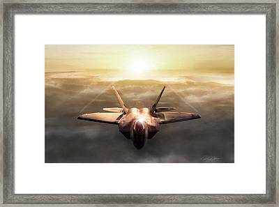 Golden Raptor Framed Print by Peter Chilelli