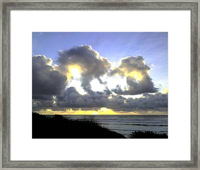 Golden Ray Framed Print
