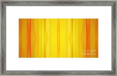 Golden Rays Panorama 2 Framed Print