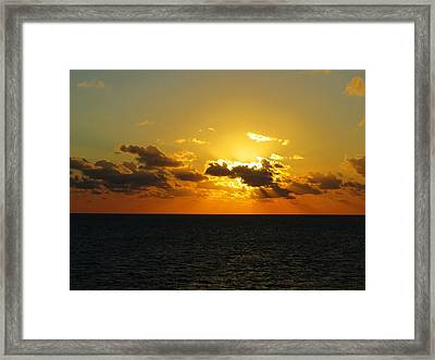 Framed Print featuring the photograph Golden Rays Sunset by Jennifer Wheatley Wolf