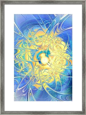 Golden Reflection Framed Print by Anastasiya Malakhova