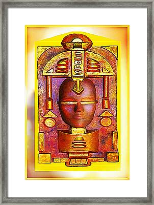 Golden Reflection Of Atlantis Framed Print by Hartmut Jager