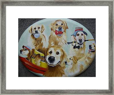 Golden  Retriever Collage Framed Print