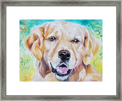 Golden Retriever Framed Print by PainterArtist FINs husband Maestro