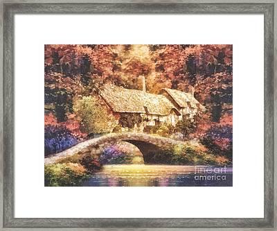 Golden Ripple Framed Print by Mo T