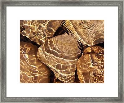 Golden Ripples Framed Print by Kathi Mirto