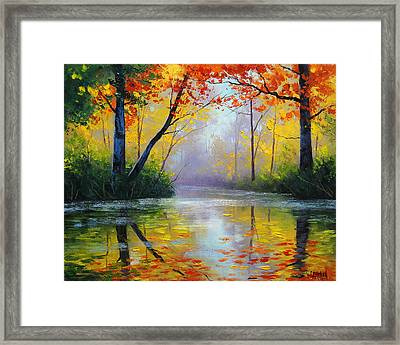 Golden River Framed Print by Graham Gercken