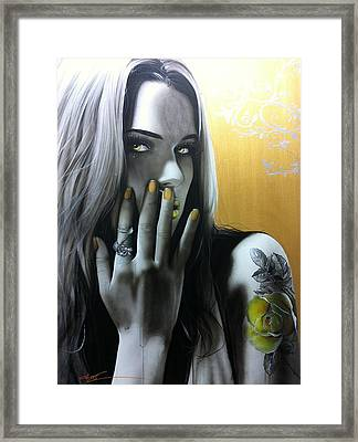 Portrait - ' Golden Rose ' Framed Print