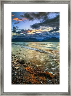 Golden Framed Print by Ryan Manuel