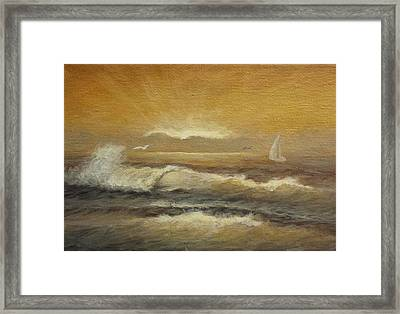 Golden Sail Framed Print