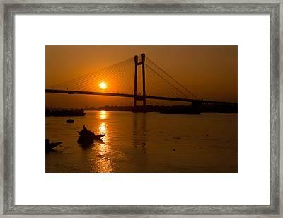 Golden Sail Framed Print