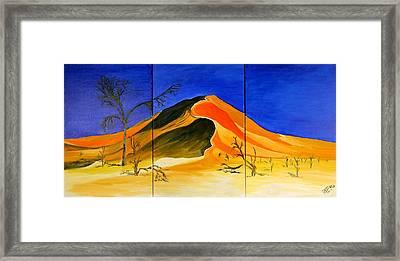 Golden Sand Dune_triptych Framed Print