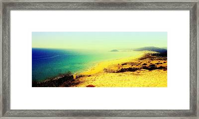 Golden Sands As Long As You Can See  Framed Print