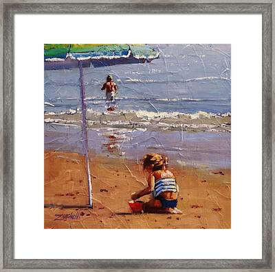 Golden Sands Framed Print by Laura Lee Zanghetti