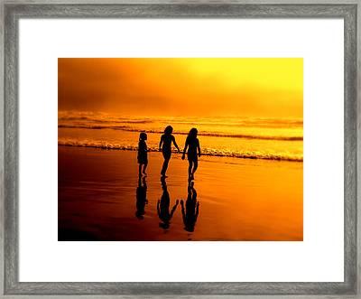 Golden Sands  Framed Print by Micki Findlay