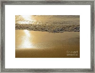Golden Seashore By Kaye Menner Framed Print by Kaye Menner