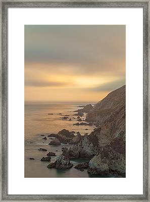 Golden Seashore Framed Print