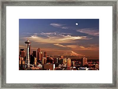 Golden Seattle Framed Print by Darren  White