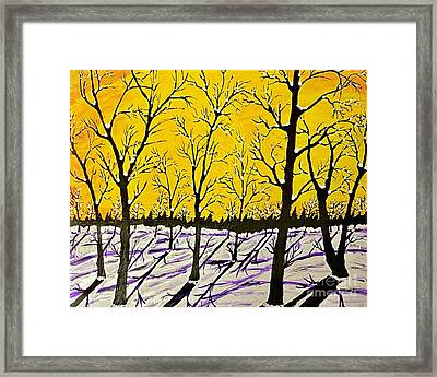 Golden Shadows Framed Print
