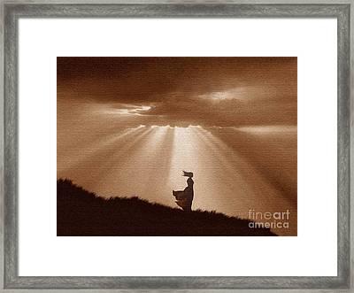 Golden Shafts Framed Print