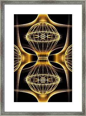 Golden Shimmer Framed Print
