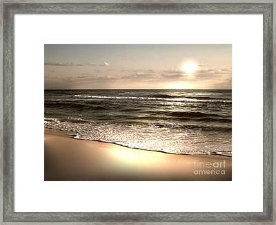 Golden Shoreline Framed Print by Jeffery Fagan