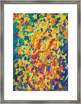 Golden Shower 1 Framed Print by Benjavisa Ruangvaree
