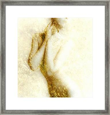 Golden Shower Framed Print