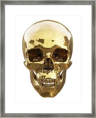 Golden Skull Framed Print by Vitaliy Gladkiy