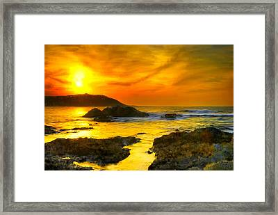 Golden Sky Framed Print by Bruce Nutting