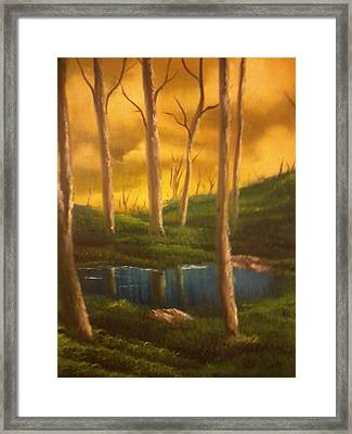 Golden Sky Delight Framed Print by Ricky Haug